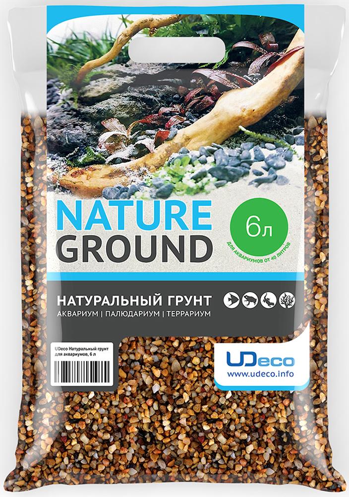 """Грунт для аквариума UDeco """"Желтый гравий"""", натуральный, 3-5 мм, 6 л"""