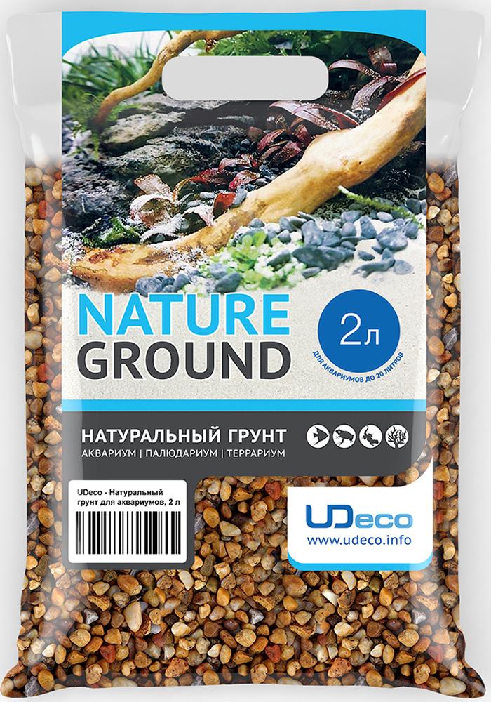 """Грунт для аквариума UDeco """"Желтый гравий"""", натуральный, 6-9 мм, 2 л"""