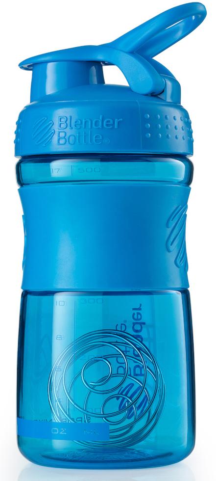 """Шейкер спортивный BlenderBottle """"SportMixer"""", цвет: голубой, 591 мл"""