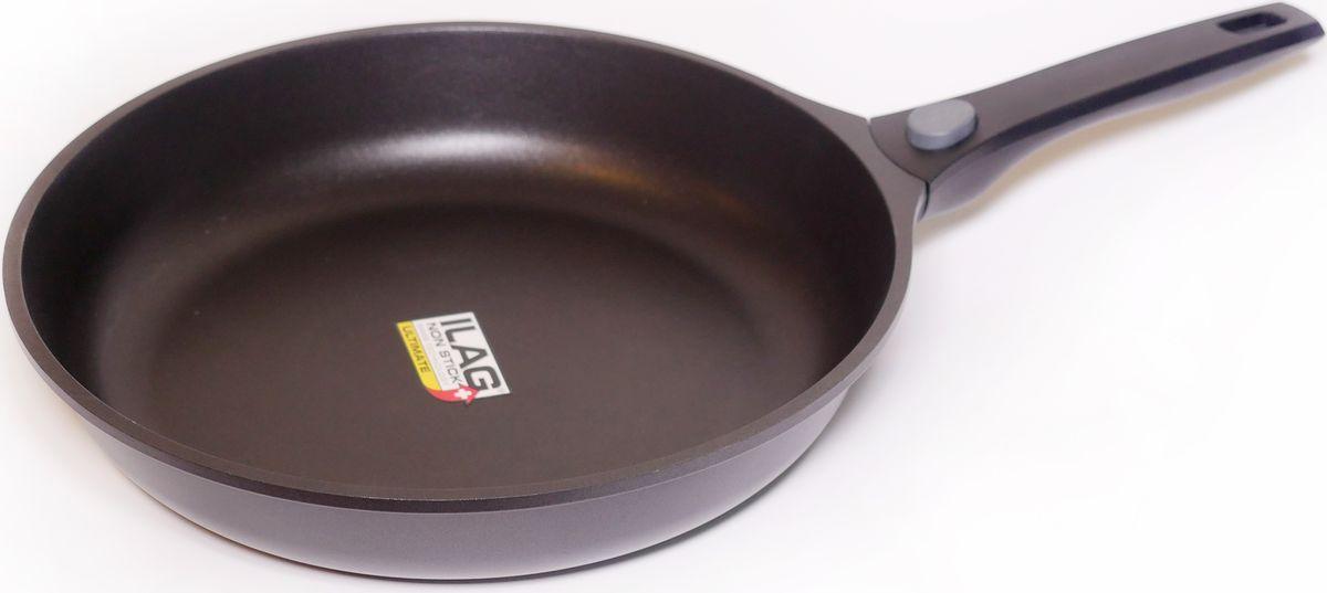 Сковорода SKK Series 6, с антипригарным покрытием, со съемной ручкой. Диаметр 32 см сковорода moulinvilla кухня с антипригарным покрытием со съемной ручкой диаметр 28 см
