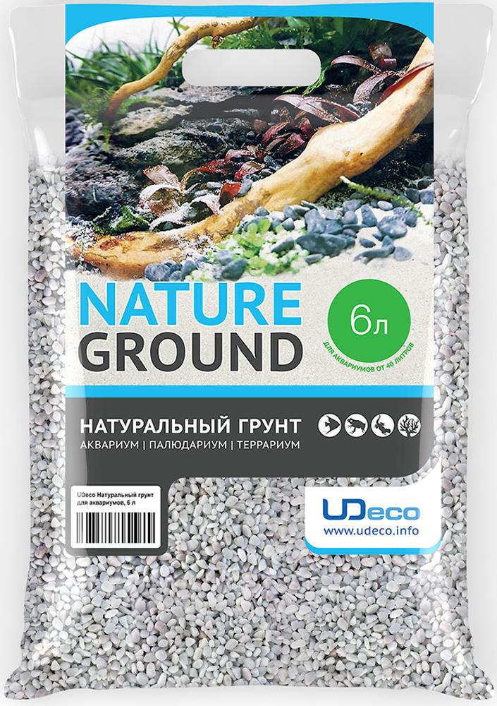 Грунт для аквариума UDeco Белый гравий, натуральный, 3-5 мм, 6 л рыбки для маленького аквариума 5 литров