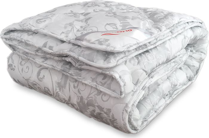 Одеяло стеганое OL-Tex Версаль, наполнитель: искусственный лебяжий пух, 200 х 220 см подушка ol tex версаль наполнитель лебяжий пух 68 х 68 см