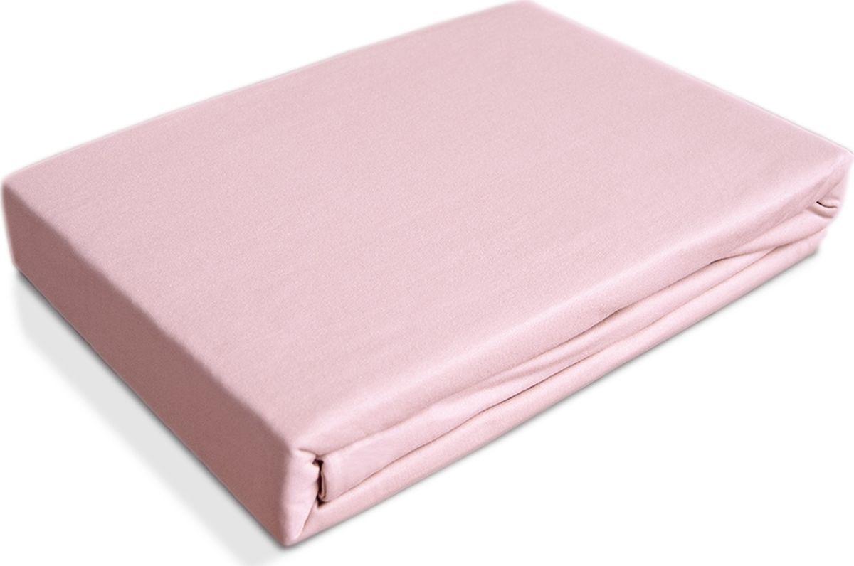 цена OL-Tex Простыня детская Baby на резинке цвет светло-розовый 60 х 120 см 2 шт онлайн в 2017 году