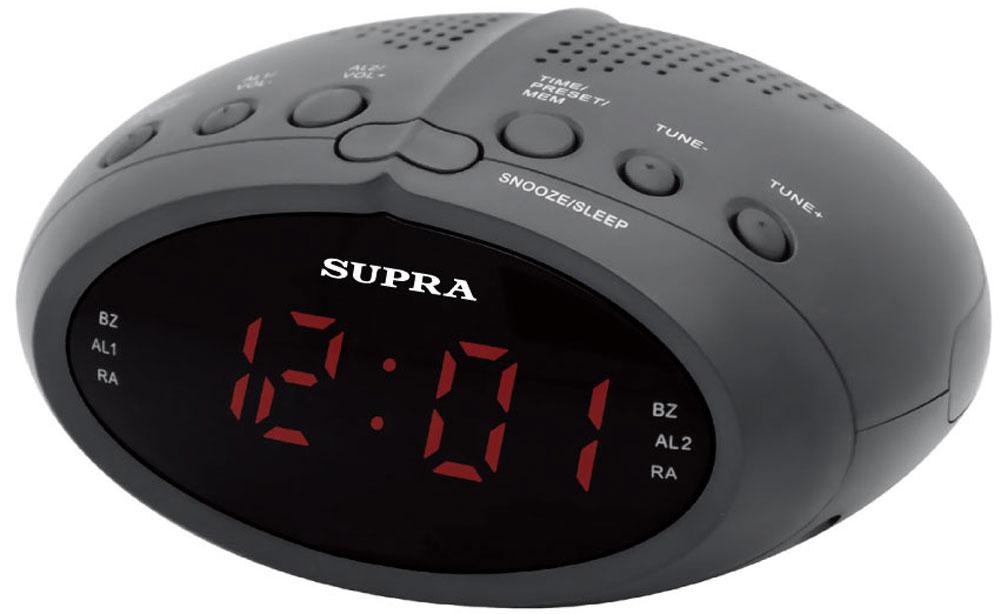 Supra SA-24FM, Black Red радиочасы с будильником