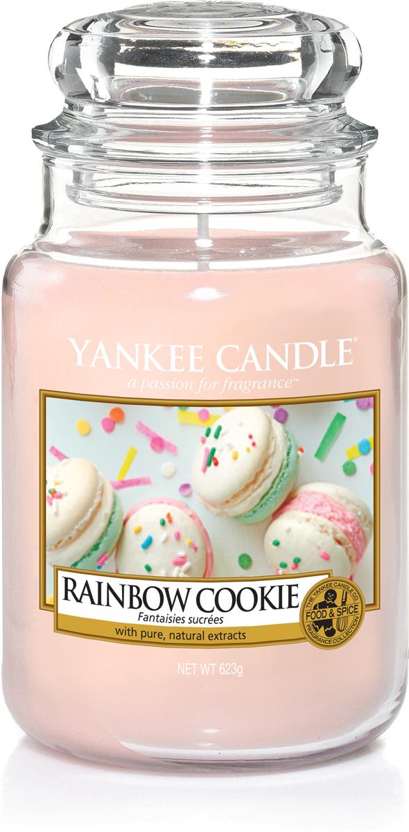 Свеча ароматизированная Yankee Candle Радужное печенье, 623 г елочные украшения winter wings шар матовый синий 8 см 1 шт пластик
