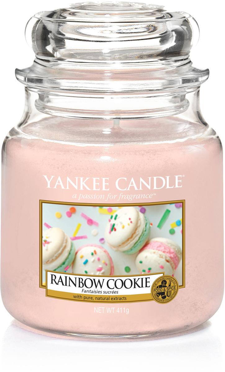 Свеча ароматизированная Yankee Candle Радужное печенье, 411 г свеча ароматизированная yankee candle angel wings высота 12 7 см
