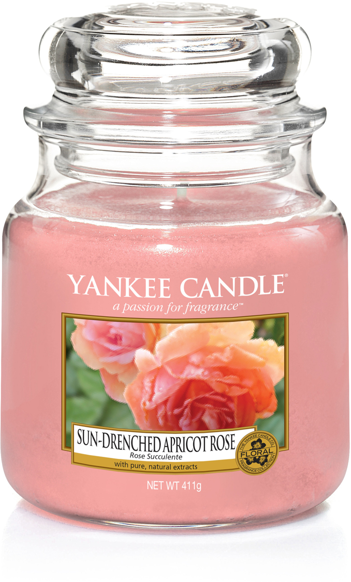 Свеча ароматизированная Yankee Candle Солнечная абрикосовая роза, 411 г lollia свеча ароматизированная дыхание 300 г