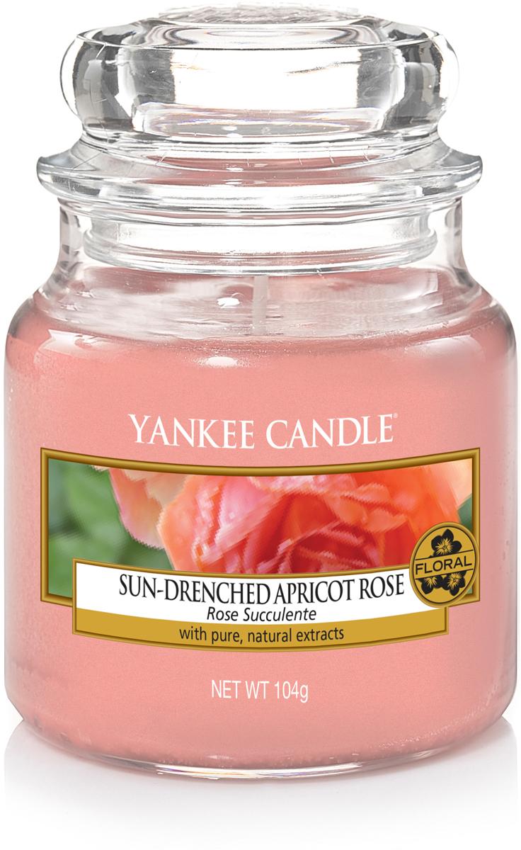 Свеча ароматизированная Yankee Candle Солнечная абрикосовая роза, 104 г свеча ароматизированная yankee candle angel wings высота 12 7 см