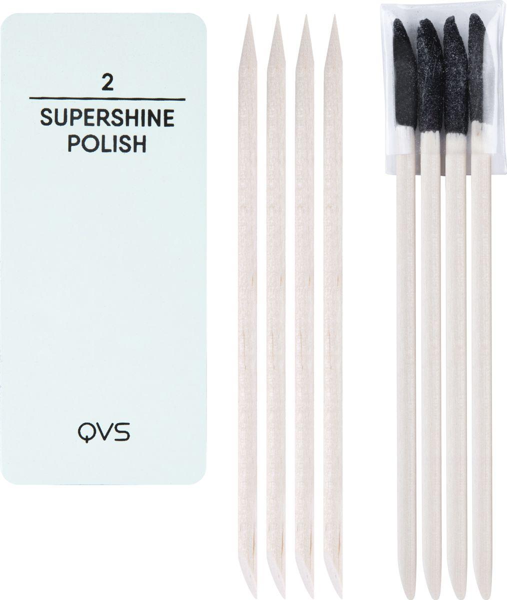 QVS Набор для ухода за ногтями и кутикулой (мини-баф/полировка, палочки для кутикулы). 82-10-1679 qvs палочки для кутикулы из натурального дерева 10 шт