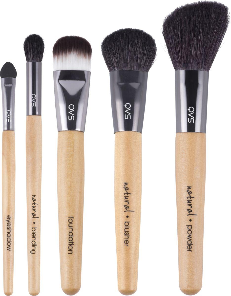 QVS Профессиональный набор кистей для макияжа, 5 шт. 82-10-1693