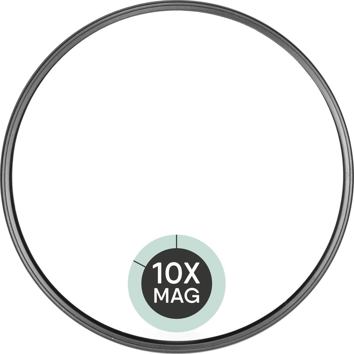 QVS Зеркало для макияжа с 10-кратным увеличением. 82-10-1733