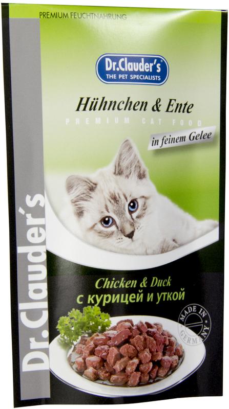 Корм консервированный Dr. Clauder's для кошек, с курицей и уткой, 100 г dr oetker пикантфикс для грибов 100 г