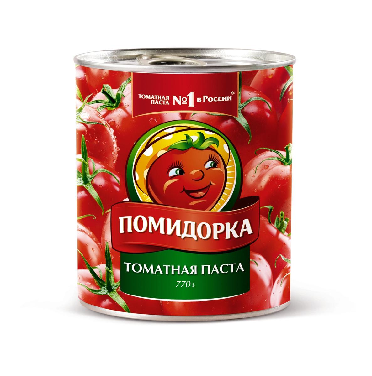 Помидорка Томатная паста, 770 г тони моли томатная