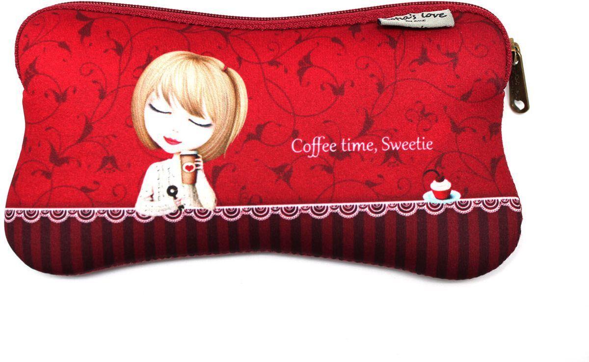 Еж-стайл Пенал Sofia Coffee Time Sweetie еж стайл линейка мишка на севере 18 5 см