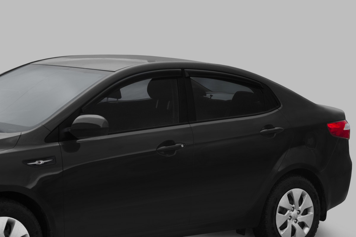Фото - Дефлекторы окон Rival Premium для Kia Rio III седан 2011-2017, оргстекло, 4 шт. 32803001 дефлекторы окон rival premium для kia cerato iii седан 2013 2018 cerato classic iii седан 2018 н в оргстекло 32802001