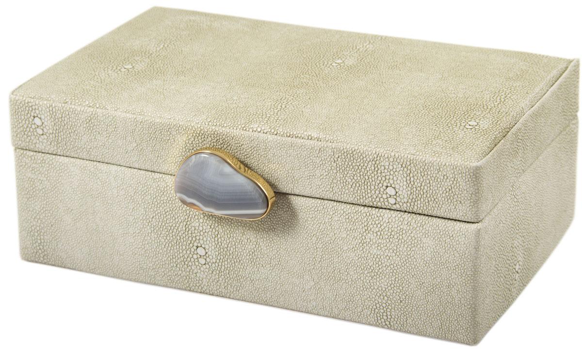 Шкатулка для украшений, цвет: белый, 23 х 17 х 9 см. 238112