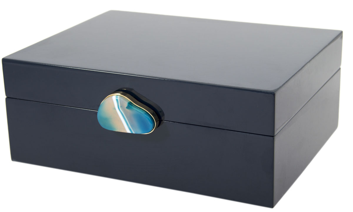 Шкатулка для украшений, цвет: синий, 23 х 18 х 9 см. 238107