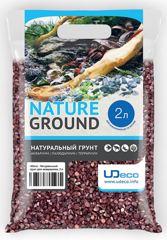 """Грунт для аквариума UDeco """"Красный гравий"""", натуральный, 4-6 мм, 2 л"""
