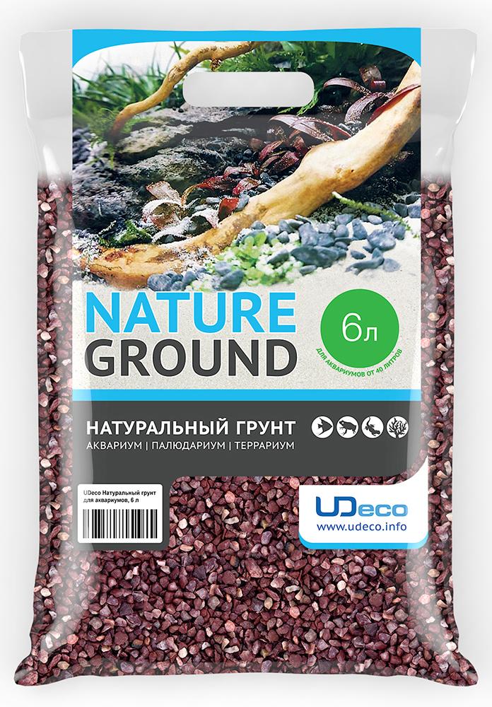"""Грунт для аквариума UDeco """"Красный гравий"""", натуральный, 4-6 мм, 6 л"""