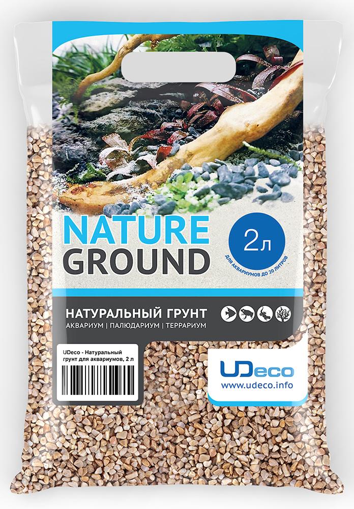 Грунт для аквариума UDeco Бежевый гравий, натуральный, 4-6 мм, 2 л грунт для аквариума udeco янтарный гравий натуральный 2 5 мм 2 л