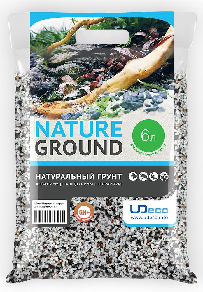 """Грунт для аквариума UDeco """"Пестрый гравий"""", натуральный, 4-6 мм, 6 л"""