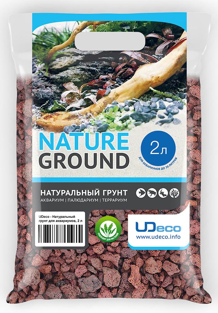 """Грунт для аквариума UDeco """"Лавовая крошка"""", натуральный, 10-30 мм, 2 л"""
