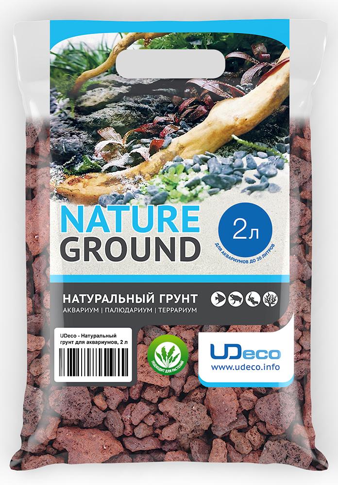 """Грунт для аквариума UDeco """"Лавовая крошка"""", натуральный, 15-40 мм, 2 л"""