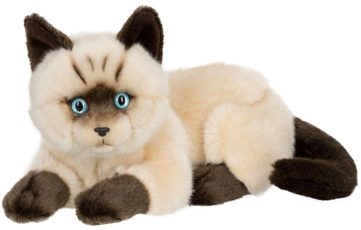 Anna Club Plush Сиамский кот лежит 25 см anna club plush мягкая игрушка кот сибирский серый 25 см
