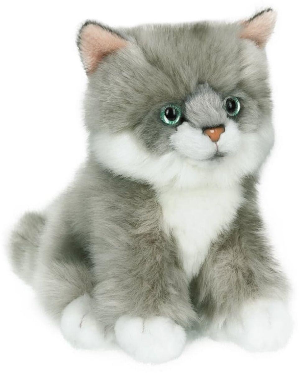 Anna Club Plush Котёнок сибирский серый, сидит 15 см anna club plush мягкая игрушка кот сибирский серый 25 см
