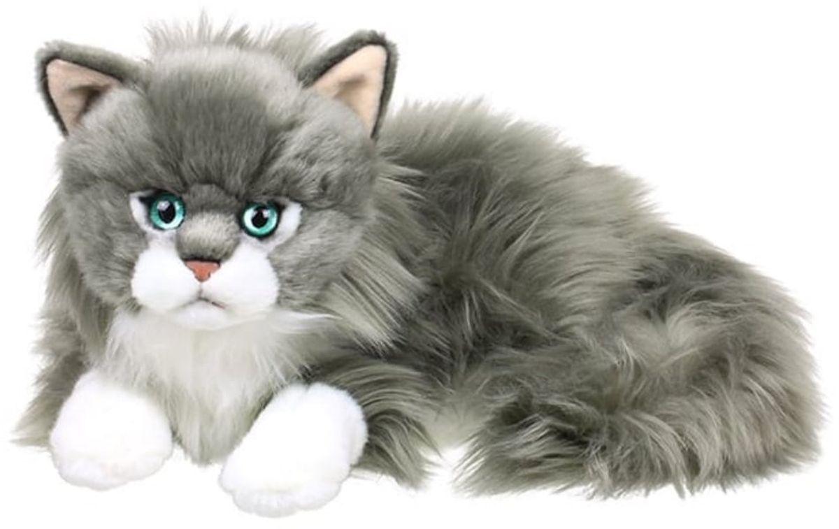 Anna Club Plush Кот сибирский серый, лежит 25 см anna club plush мягкая игрушка кот сибирский серый 25 см