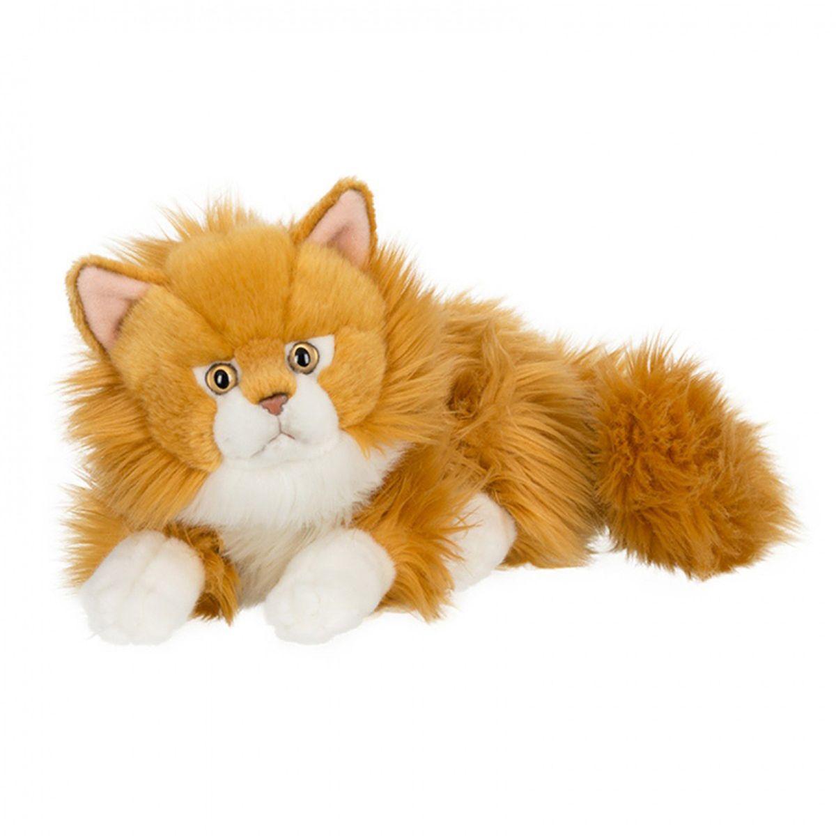 Anna Club Plush Кот сибирский рыжий, лежит 30 см anna club plush мягкая игрушка кот сибирский серый 25 см