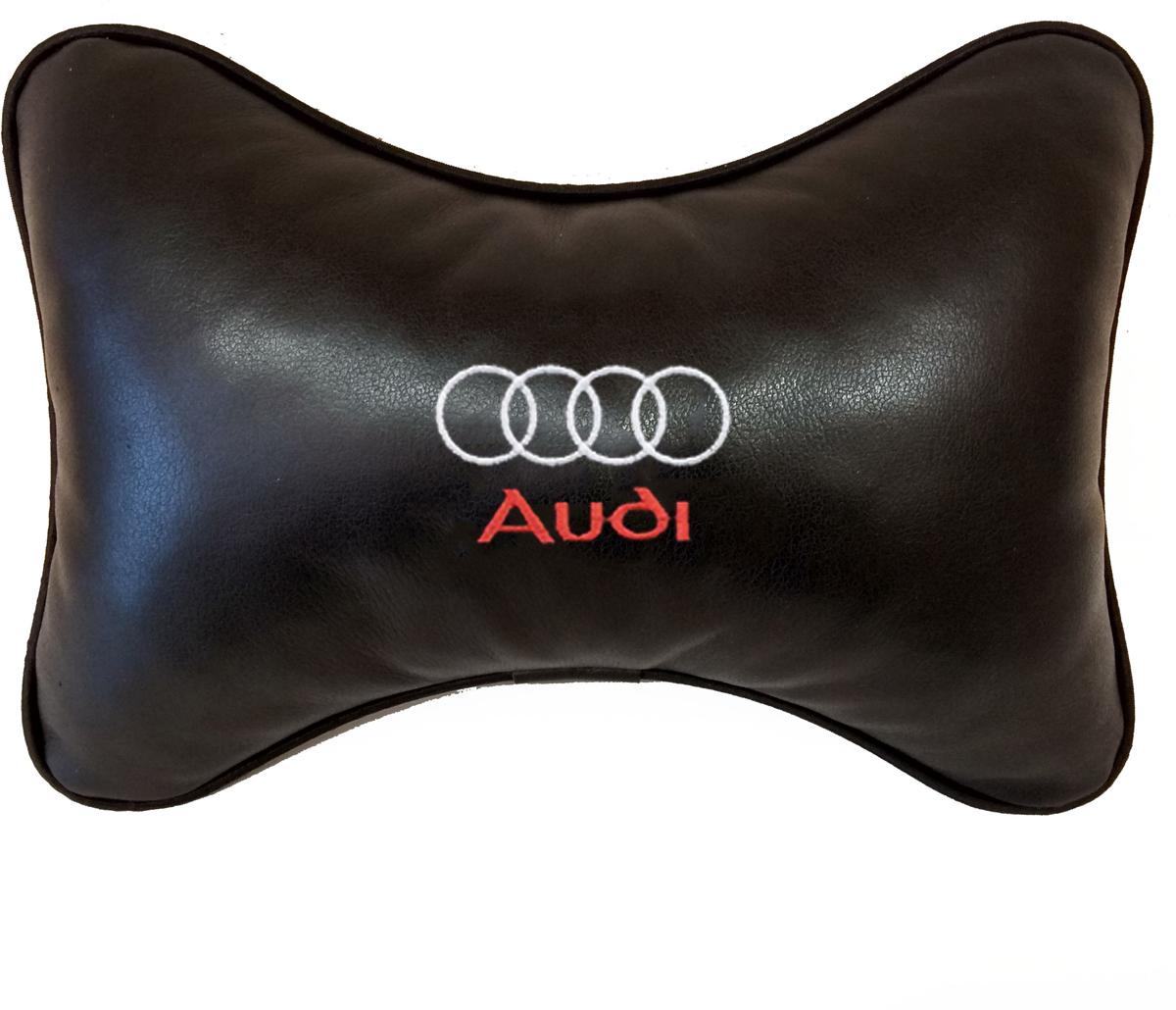 Подушка на подголовник Auto Premium Audi, цвет: черный, 37803 подушка на подголовник auto premium nissan цвет бежевый 37583