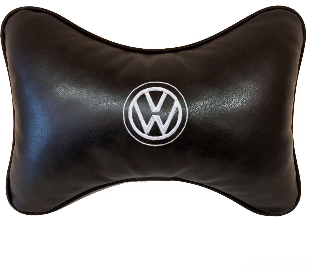 Подушка на подголовник Auto Premium Volkswagen, цвет: черный, 37804 подушка на подголовник auto premium nissan цвет бежевый 37583