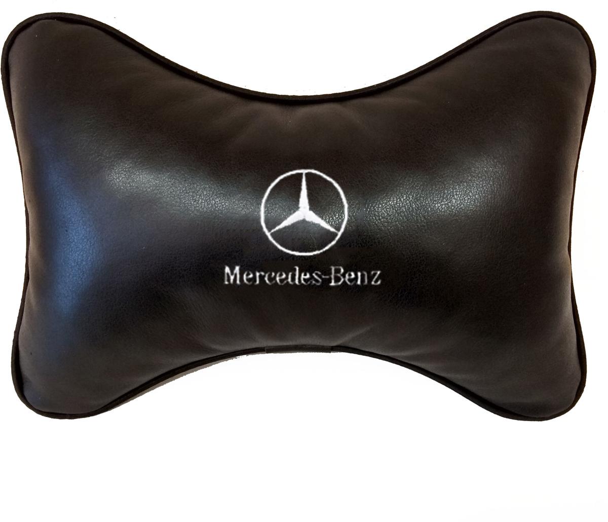Подушка на подголовник Auto Premium Mersedes-benz, цвет: черный. 37806 подушка на подголовник auto premium nissan цвет бежевый 37583