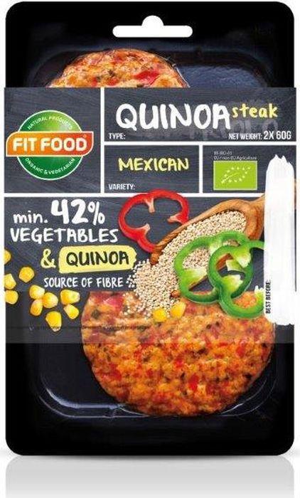 FitFood Стейк вегетарианский из киноа мексиканский Mexican, 150 г стейк alliance hao food 1700