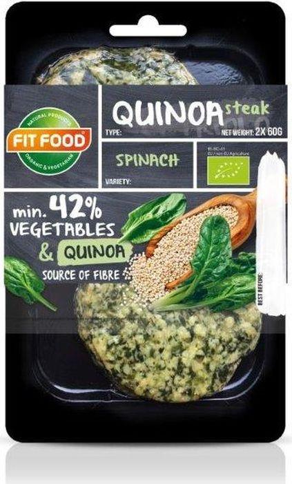 FitFood Стейк вегетарианский из киноа со шпинатом Spinach, 150 г стейк alliance hao food 1700