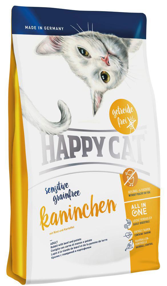 Happy Cat La Cuisine Кролик , говядина с картофелем и морковью, без глютена, 4 кг happy cat лакомство happy cat подушечки для стимуляции двигательной активности и снятия стресса с кошачьей мятой 50 г