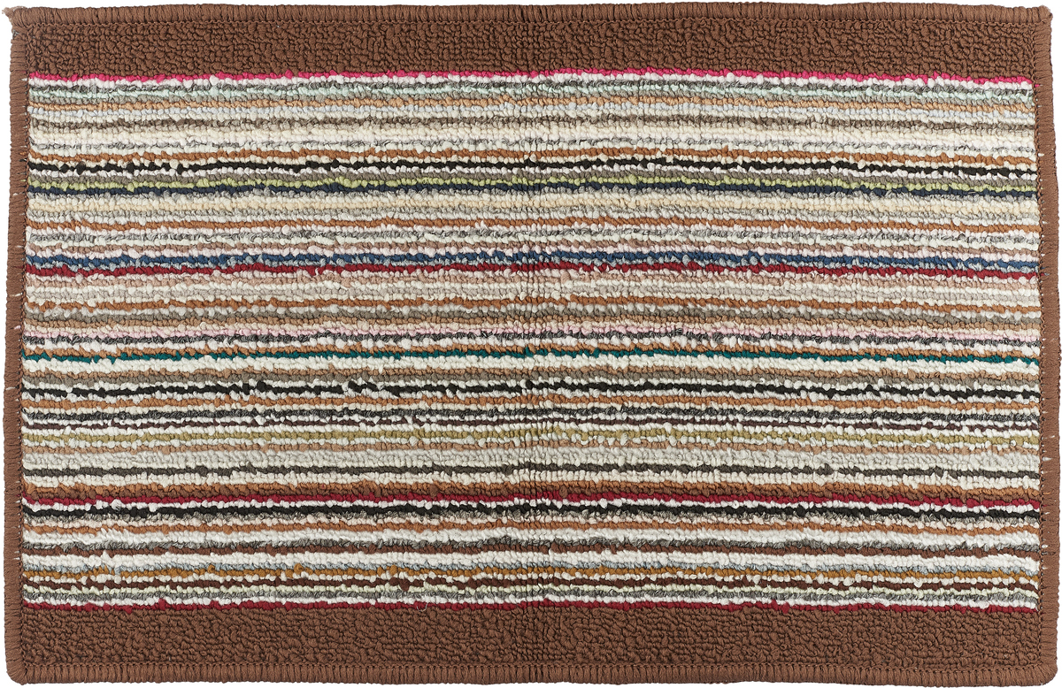 """Коврик для ванной Vortex """"Baden"""", цвет: коричневый, белый, красный, 38 х 58 см. 21078"""