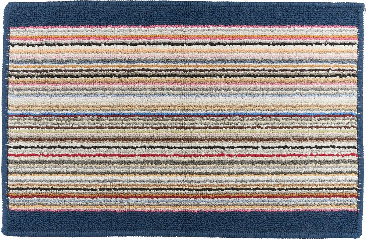 """Коврик для ванной Vortex """"Baden"""", цвет: синий, белый, красный, 38 х 58 см. 21078"""