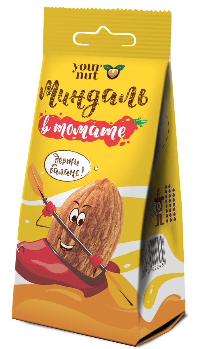купить Your nut Миндаль обжаренный с морской солью и томатами, 80 г по цене 129 рублей