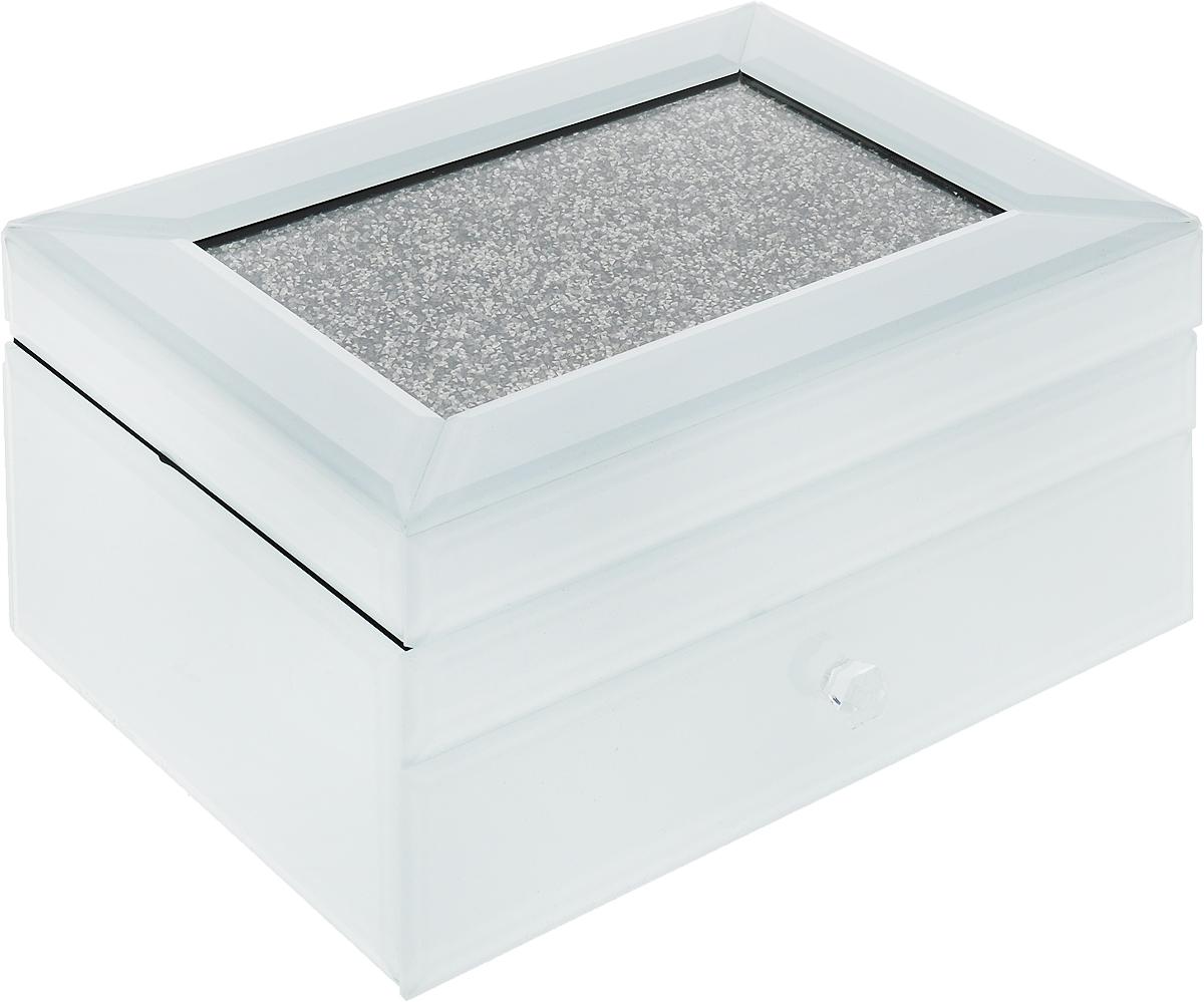 Шкатулка для украшений, цвет: белый, 22 х 17 х 11 см. 79209