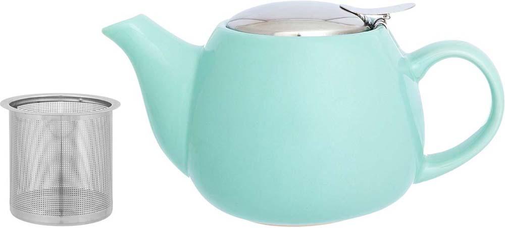 Чайник заварочный Elan Gallery, с ситом, цвет: мятный, 650 мл цена