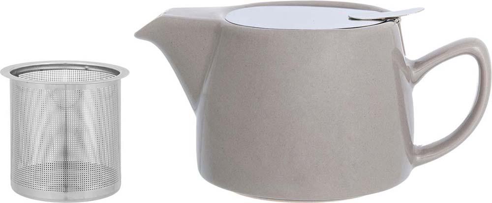 Чайник заварочный Elan Gallery, с ситом, цвет: капучино, 450 мл цена