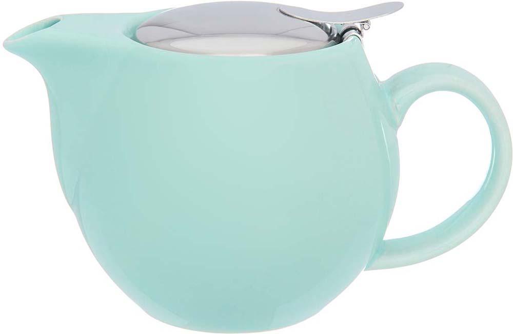 Чайник заварочный Elan Gallery, с ситом, цвет: мятный, 500 мл elan gallery чайник с металлическим ситом павлин на золоте