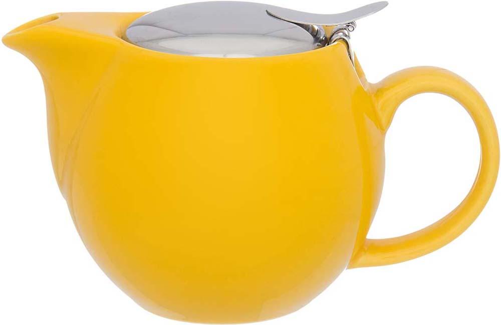 Чайник заварочный Elan Gallery, с ситом, цвет: лимонный, 500 мл цена