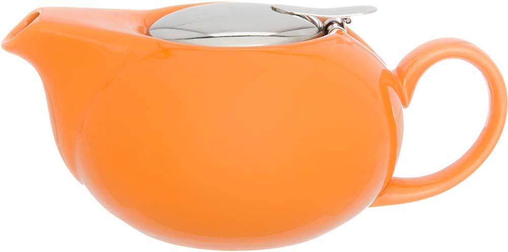 Чайник заварочный Elan Gallery, с крышкой и ситом, цвет: оранжевый, 550 мл elan gallery чайник с металлическим ситом павлин на золоте