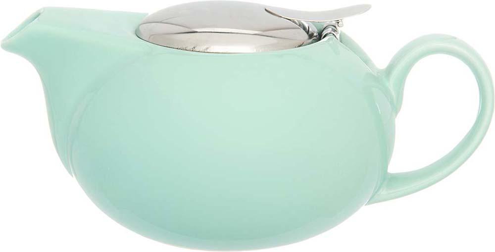 Чайник заварочный Elan Gallery, с крышкой и ситом, цвет: мятный, 550 мл elan gallery чайник с металлическим ситом павлин на золоте