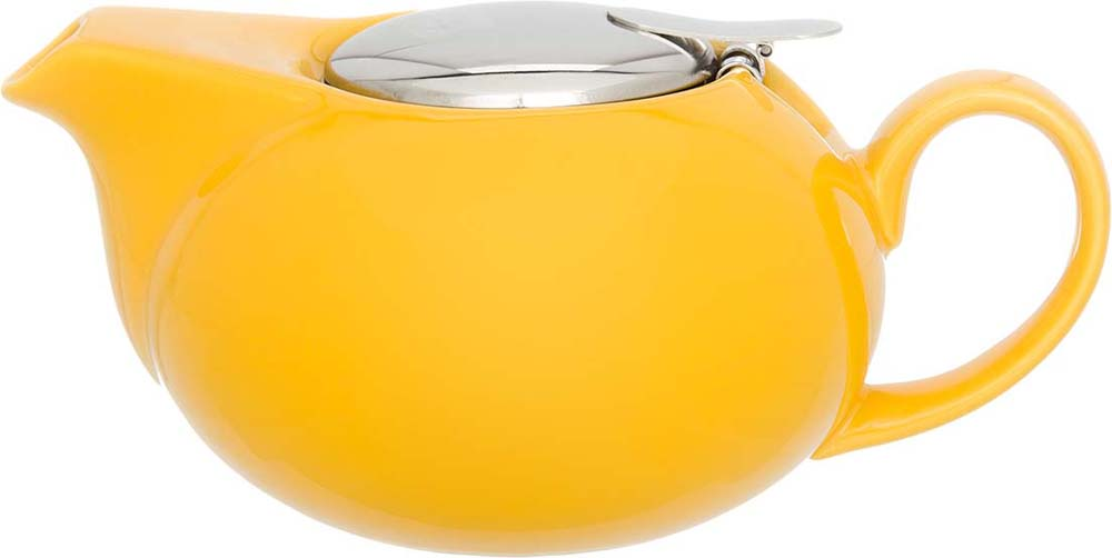 Чайник заварочный Elan Gallery, с крышкой и ситом, цвет: желтый, 550 мл чайник с металлическим ситом elan gallery павлин 900 мл 471325