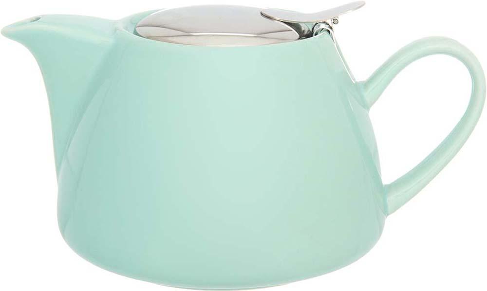 Чайник заварочный Elan Gallery, с крышкой и ситом, цвет: мятный, 700 мл elan gallery чайник с металлическим ситом павлин на золоте