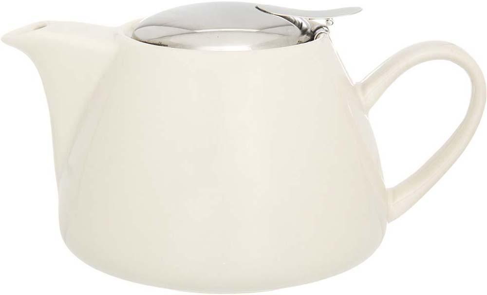 Чайник заварочный Elan Gallery, с крышкой и ситом, цвет: бежевый, 700 мл elan gallery чайник с металлическим ситом павлин на золоте